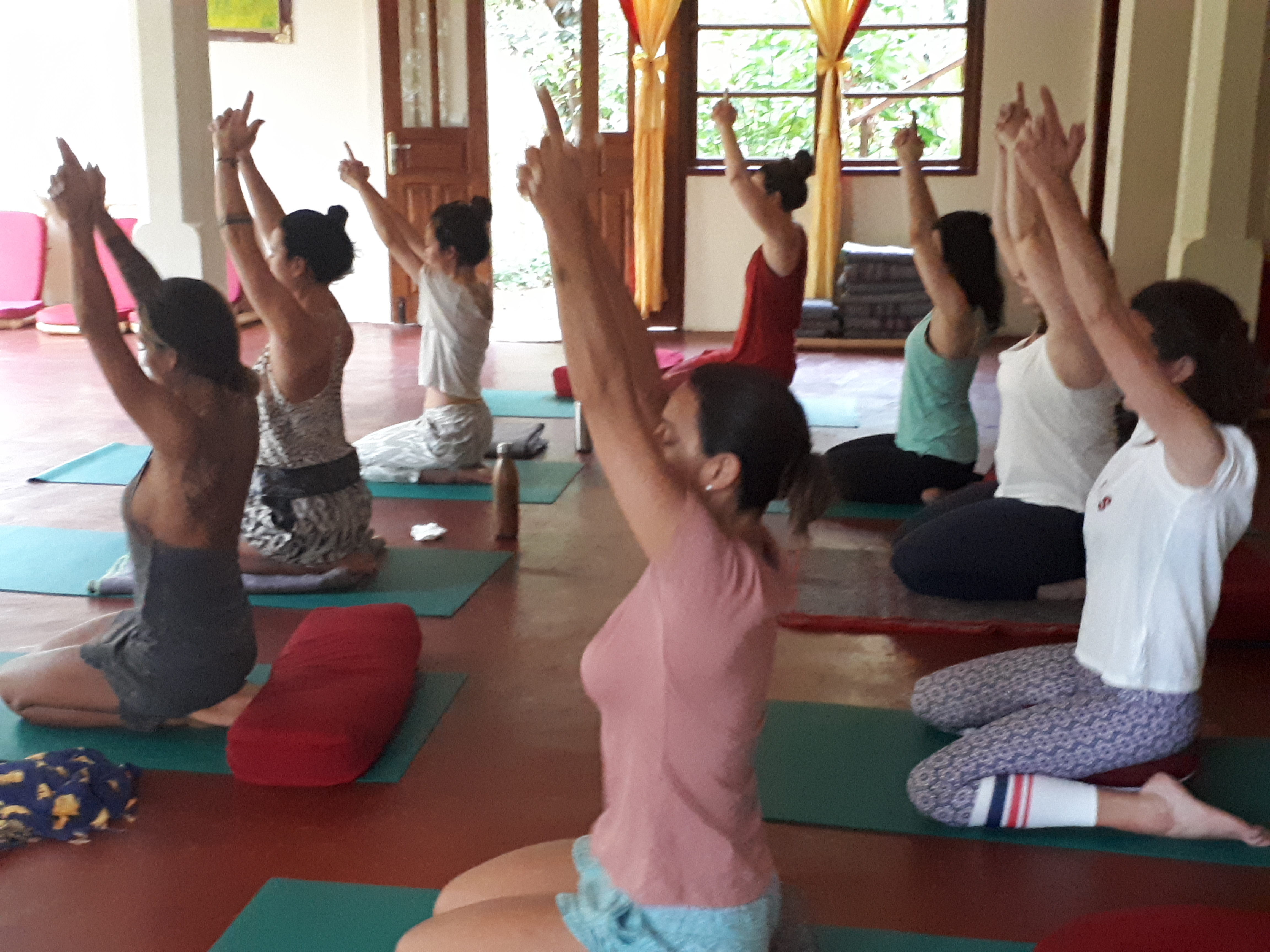 Practice yoga outdoors