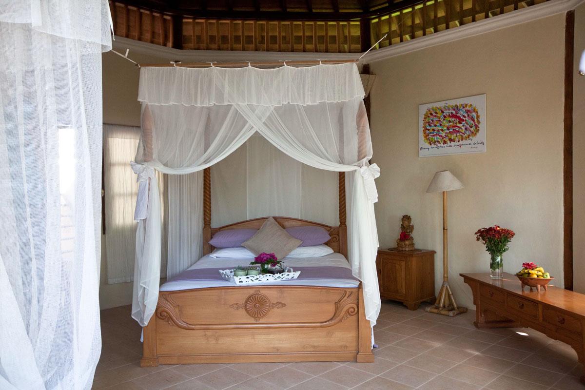 Rooms at Villa Boreh are comfortable